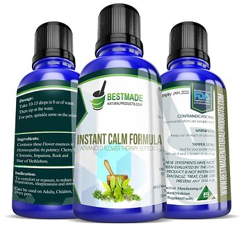 Instant Calm Formula  Advanced Flower Therapy Remedies 30mL,