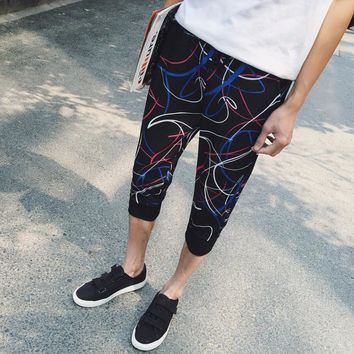 Summer Casual Sportswear Pants Capri [6533770695]