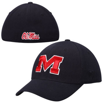 Ole Miss Rebels Top of the World Memory 1Fit Flex Hat – Navy Blue