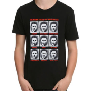 Halloween The Faces Of Mike Myers T-Shirt