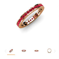 0.80ct Ruby Eternity Wedding Ring Band 18kt Rose Gold JEWELFORME BLUE