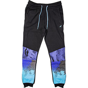 Staple Aqua Sweatpants (Mens) - Black/Aqua