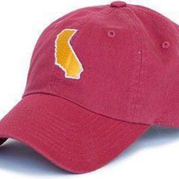 California Los Angeles Gameday Hat in Cardinal Red by State Traditions