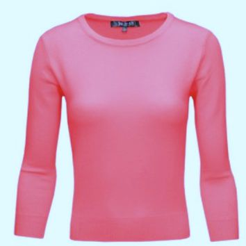 MAK Pullover Sweaters in Flamingo Pink