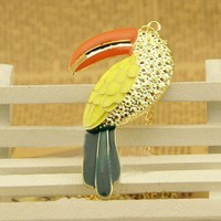 Top Unique design Fashion Woodpecker Pendant Chain Necklace 1PCS New arrival