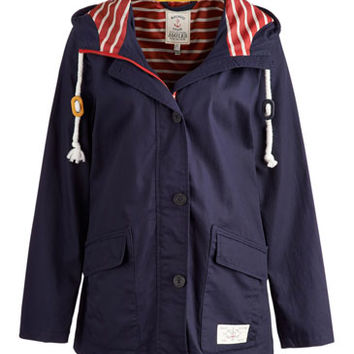 Blue Tisbury Womens Nautical Jacket | Joules UK