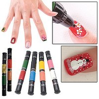 Migi Nail Polish Art Sets 12 Colors (6 Pens) - Original and Party Colors