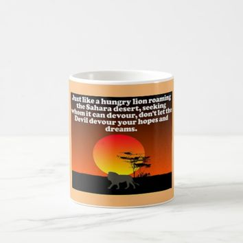 Don't let the Devil devour your expectations! Coffee Mug