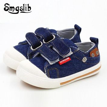 Size 21-30 Kids Shoes for toddler Girls Boys Sneakers Jeans Denim Running Sport Baby canvas sneakers flat children Shoes