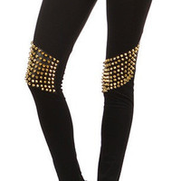 Studded knee leggings
