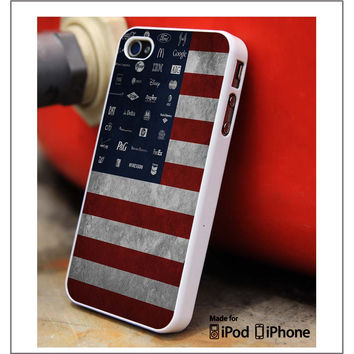 America Logos Company iPhone 4s iPhone 5 iPhone 5s iPhone 6 case, Galaxy S3 Galaxy S4 Galaxy S5 Note 3 Note 4 case, iPod 4 5 Case