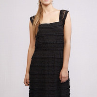 Lace to the Top Dress (Black)