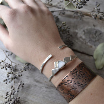 copper cuff // weathered texture