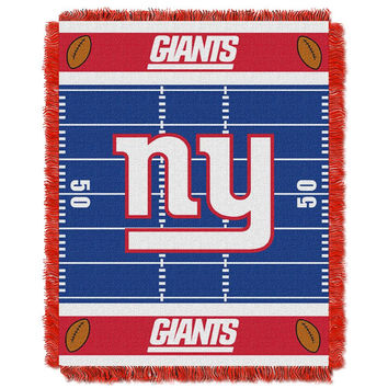 New York Giants NFL Triple Woven Jacquard Throw (Field Baby Series) (36x48)