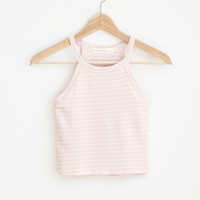 Baby Pink Stripe Tank Top