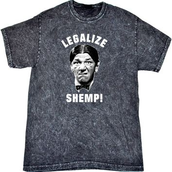 Three Stooges T-shirt Legalize Shemp Mineral Washed Tie Dye Tee