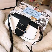 PRADA High Quality Fashionable Women Shopping Leather Handbag Tote Shoulder Bag Crossbody Satchel