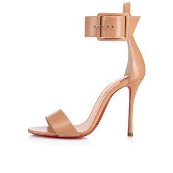 Blade runana 100 NUDE Kid - Women Shoes - Christian Louboutin