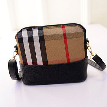 Winter Vintage Fashion Plaid Patchwork Bags [6583132807]