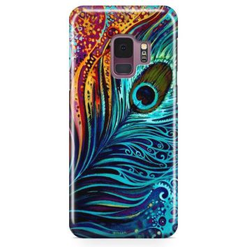 Peacock Feathers Painting Samsung Galaxy S9 Case | Casefantasy
