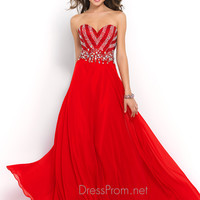 Bright Red Blush Prom Dress 10004