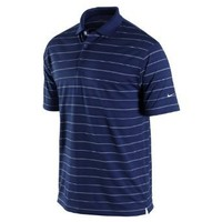 Nike Golf Men's Tech Core Stripe Polo College Navy/WHITE//WHITE XL
