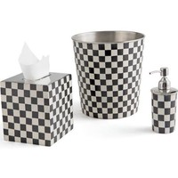 Set of Three checkered Bathroom Accessories