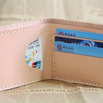 handstitch genuine leather wallet,  vegetable tanning leather women's wallet,men's leather wallet,credit card wallet