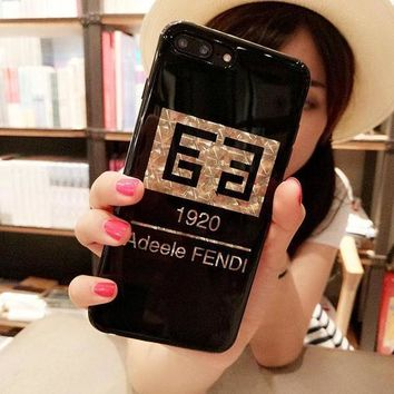 Day-First™ FENDI Fashion Print iPhone Phone Cover Case For iphone 6 6s 6plus 6s-plus 7 7plus
