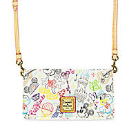 Mickey and Minnie Mouse ''A Walk in the Park'' Crossbody Wallet by Dooney & Bourke