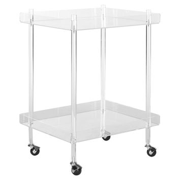 Batley Kitchen Cart, Acrylic / Lucite, Kitchen Islands & Carts