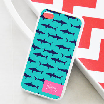 Personalized Shark iPhone 5s Case, Shark iPhone 5 Cover, Shark Personalized iPhone Case, Personalized Shark iPhone Cover
