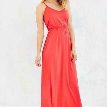 Silence + Noise Strappy Cross-Back Maxi Dress