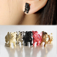 Hot Sale Punk Gothic Rock Stereoscopic Dog Impalement Piercing Stud Earring New Fashion Charm Jewelry EAR-0620 = 1706192260