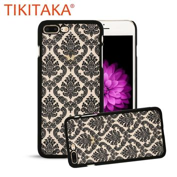 Retro Palace Paisley Flower Phone Case For iPhone 7 6 6s Plus SE 5 5s Fashion Vintage Floral Henna