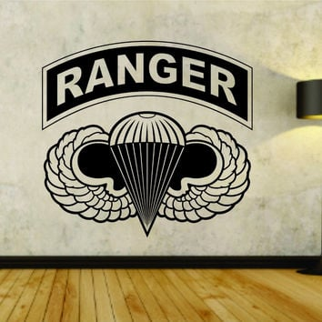 Army Ranger Logo Military Soldier Uniform Vinyl Wall Decal Sticker Car Window