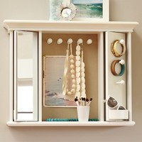 Rotating Mirror Jewelry Storage