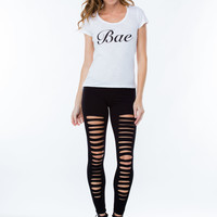 Holy Slit Shredded Front Leggings GoJane.com