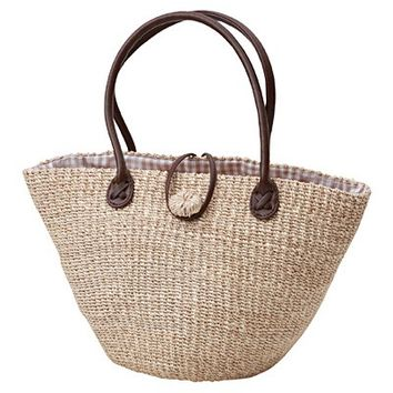 Abaca Walked Bag Beige