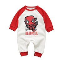 Deadpool Dead pool Taco Cartoon  Baby Rompers Autumn Winter Cotton Baby Boys Clothes Infant Girl Clothing Jumpsuits NewbornLong Sleeve Outfits AT_70_6