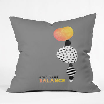 Elisabeth Fredriksson Find Your Balance Throw Pillow
