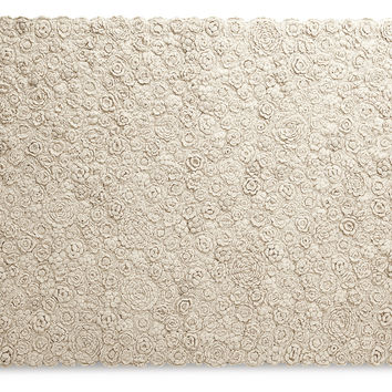 Serena & Lily, Natural Flora Crocheted Rug, Natural, Area Rugs