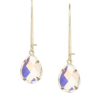 Dee Earrings in Clear Iridescent - Kendra Scott Jewelry