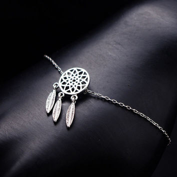 Streetstyle  Casual Dream Catcher Hollow Feather Bracelet