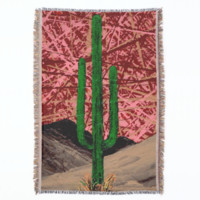 SAGUARO (a desert cactus design) ~ Throw Blanket