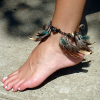 Ankle Bracelet-Into the Woods Feather Ankle Bracelet