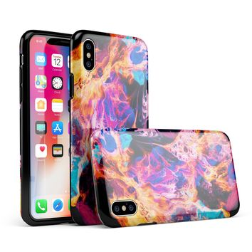 Liquid Abstract Paint V74 - iPhone X Swappable Hybrid Case