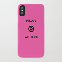 IN LOVE WITH LIFE iPhone Case by Love from Sophie