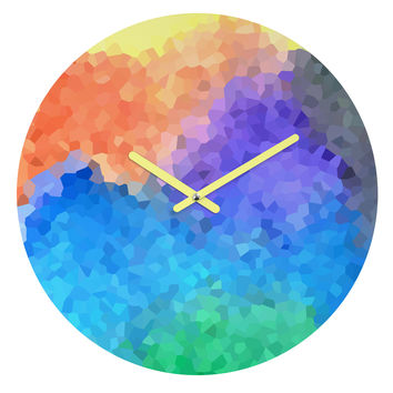 Rosie Brown Beach Glass Round Clock