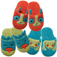 Organic Non-Slip Slippers - Rainforest Collection